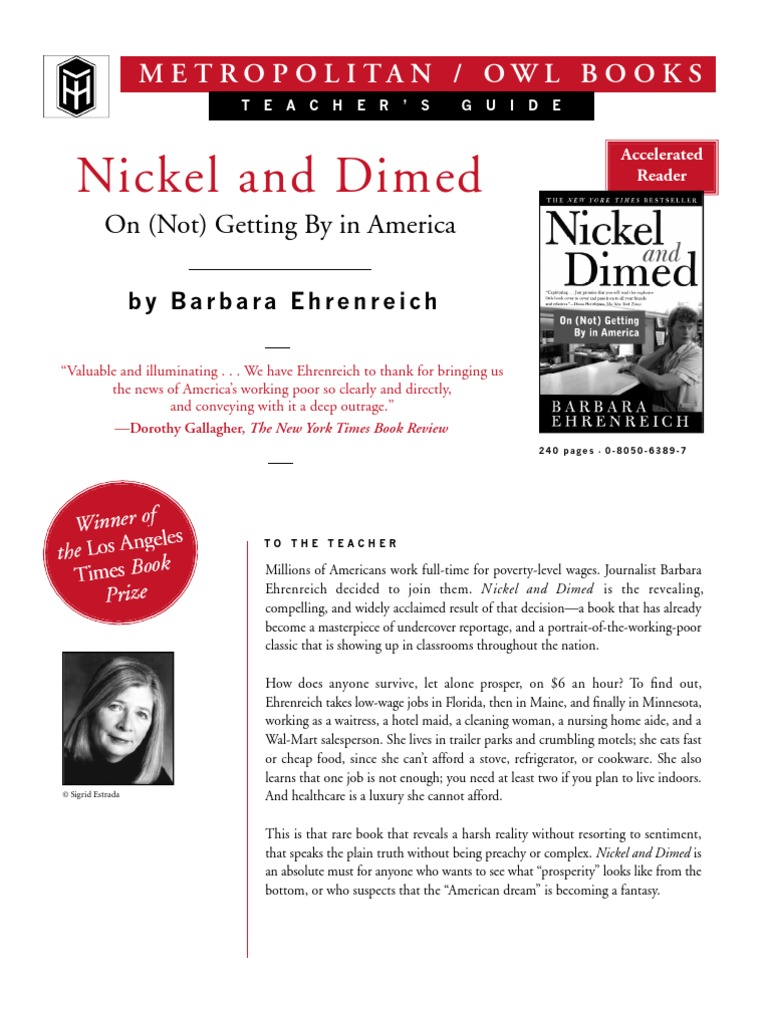 a report on nickel and dimed and the investigations of barbara ehrenreich on the living conditions o Summary of nickel and dimed by barbara ehrenreich: chapter 1 summary and analysis.