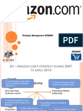 amazon com strategy 0 bus 478: seminar on business strategy synopsis project: amazoncom group g group members: tristan landrecht jessica zhang john chen jin can chen.