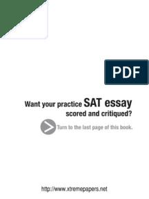 sat essay score 10