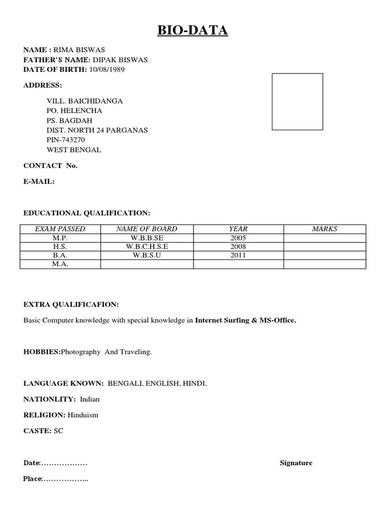 biodata example doc tk biodata example 25 04 2017