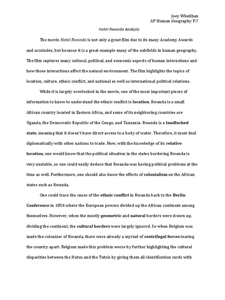 hotel rwanda summary essay