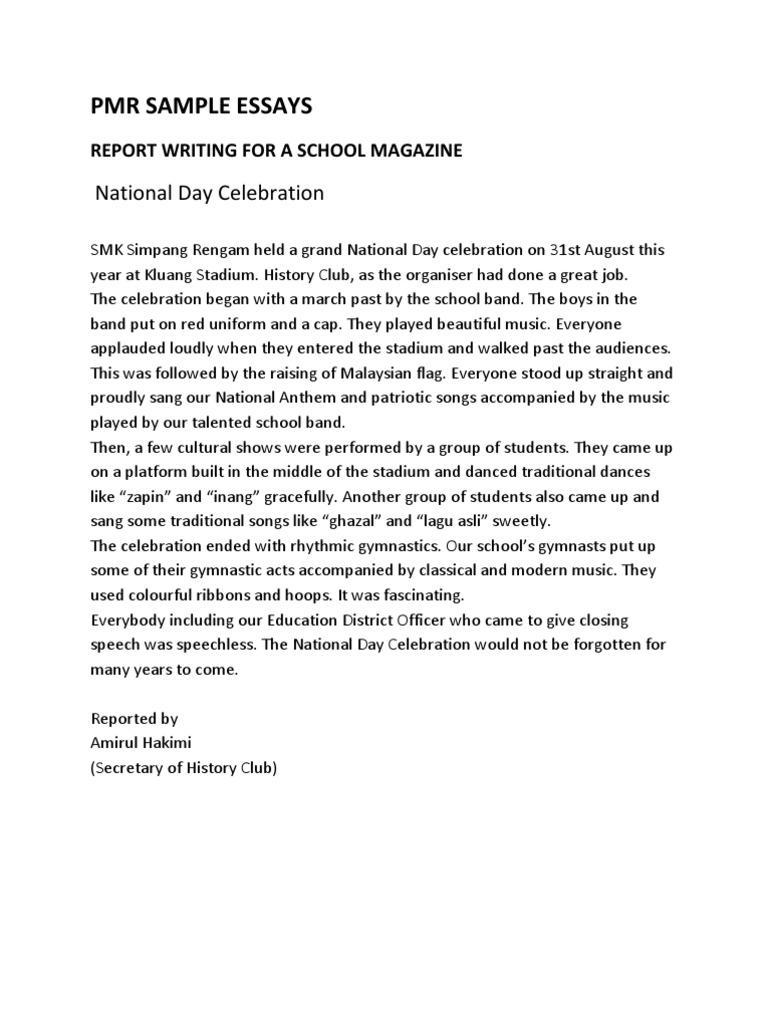 Example essay informal letter pmr