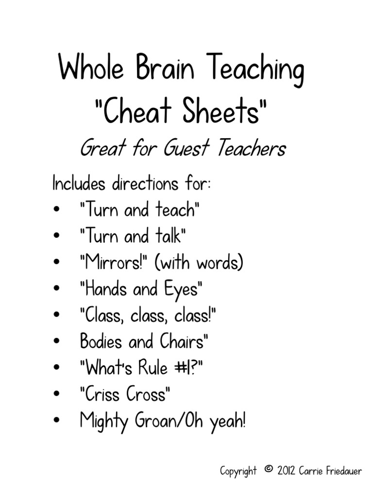 whole brain teaching Whole brain teaching for challenging kids has 664 ratings and 47 reviews kathy said: i would actually prefer to give this book 0 starsas a profession.