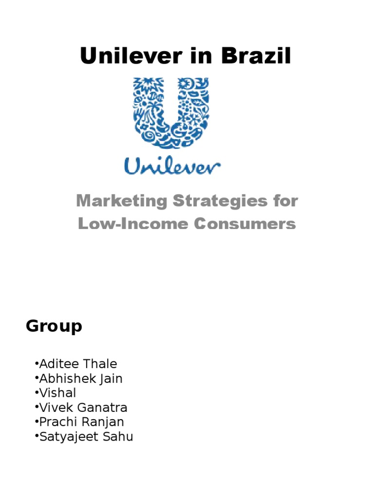 unilever case study analysis brazil As given in the case study, unilever in brazil has a strong 81% market share by means of its three brands: omo, minerva and campeiro question at.
