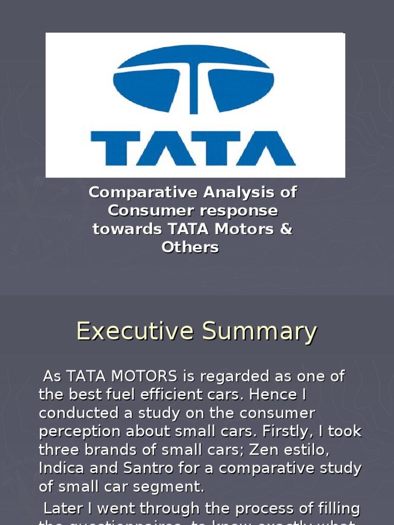 projects report on marketing mix of tata motors