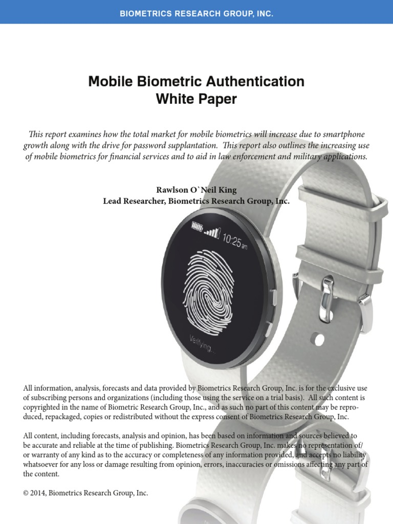 biometrics security essay White papers on biometrics from m2sys as the size of biometric databases grows, the security and accuracy of using multimodal biometric systems helps to.