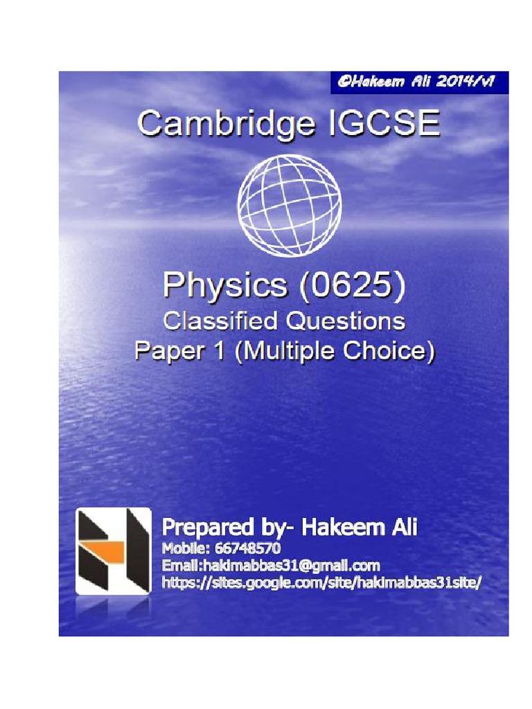 25-IGCSE Past Paper Physics - Smart Edu Hub