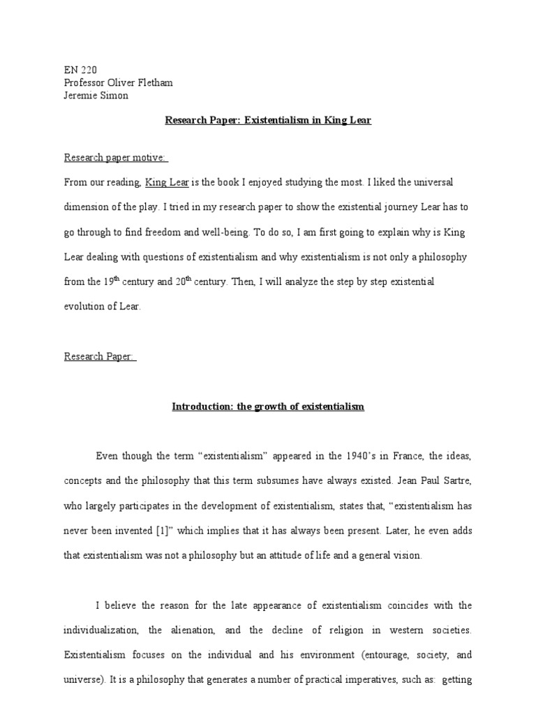 king lear paper essay This free english literature essay on essay: king lear is perfect for english literature students to use as an example.
