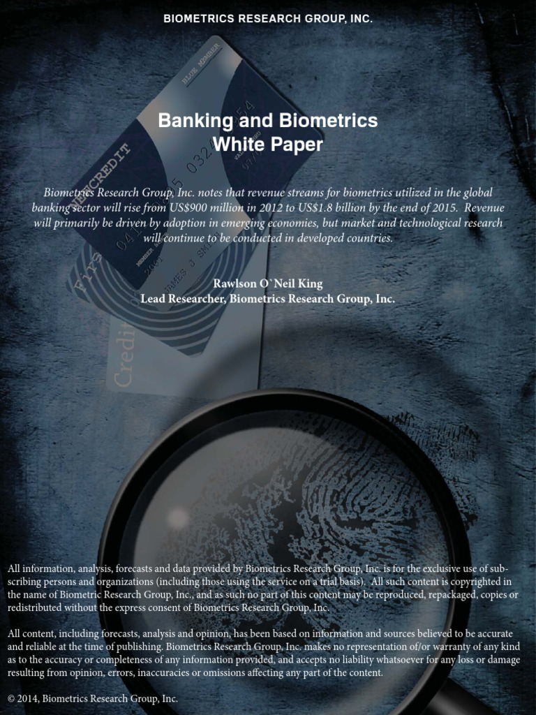 biometric security essay Biometric-based systems this issue paper offers recommendations as to how biometric technologies can be used to improve security and thereby issue papers.