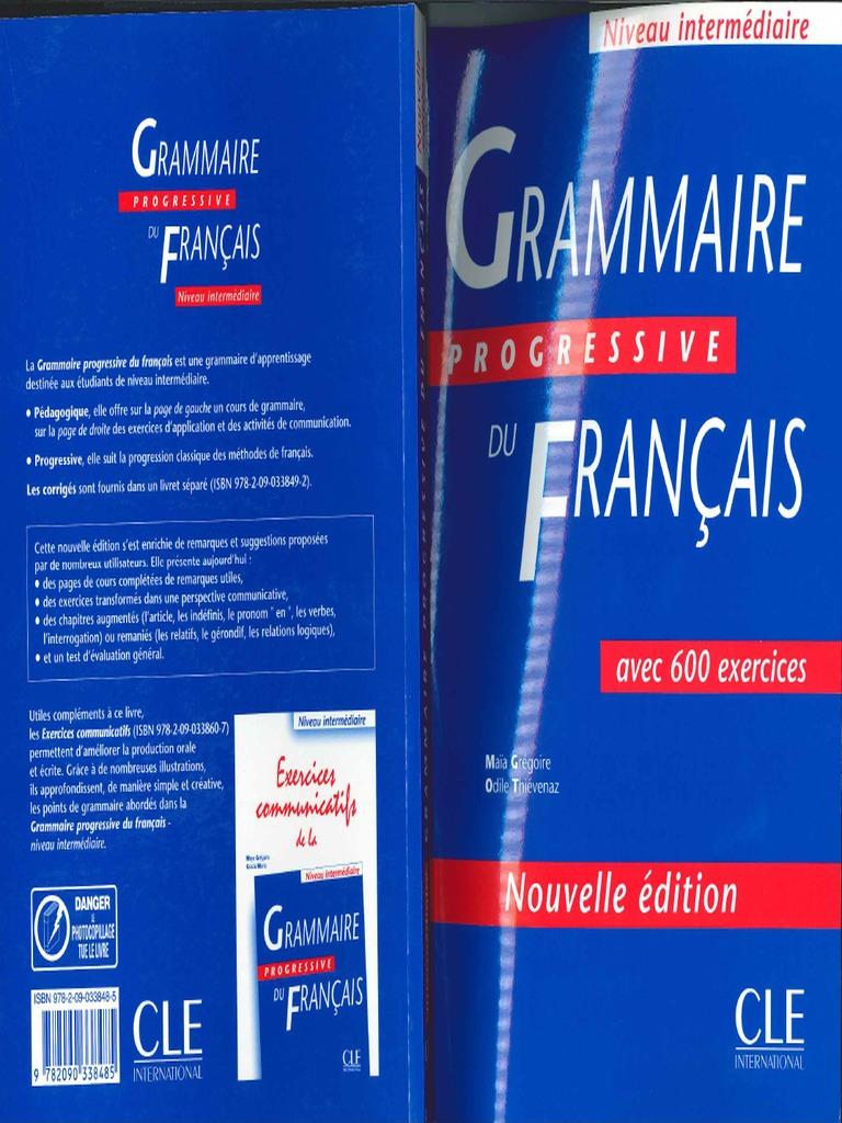 Grammaire Progressive Du Francais Avec 600 Exercices Pdf