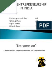 rural entrepreneurship in india