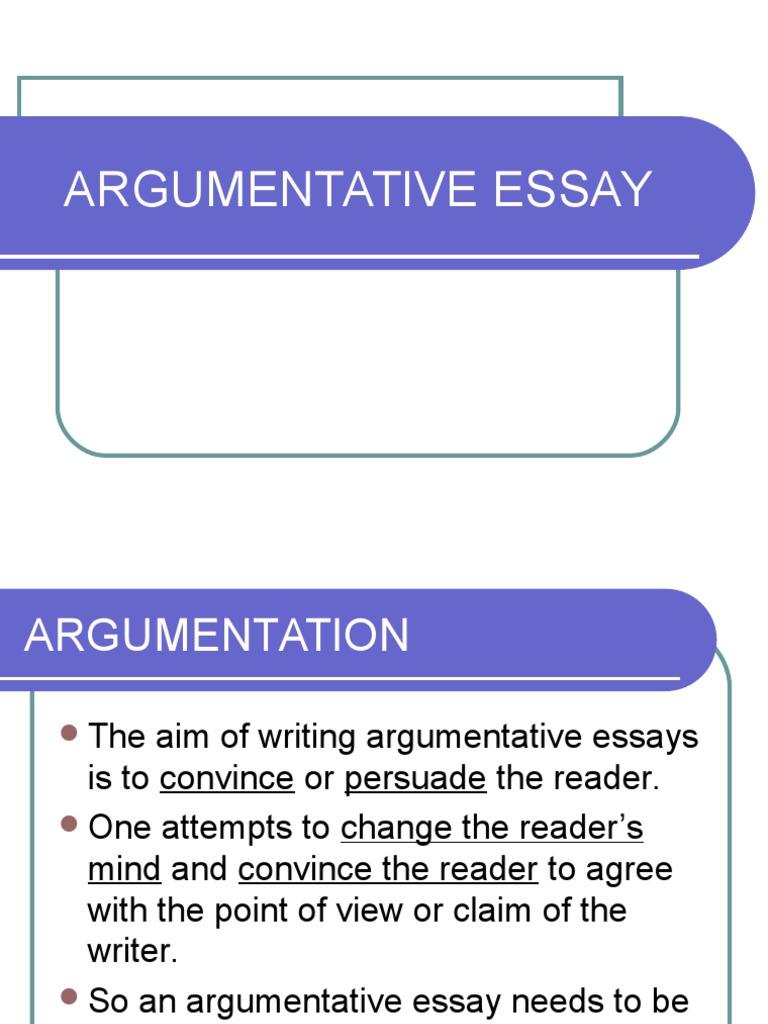 argumentative essay words