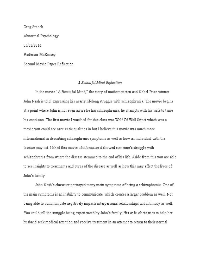 A Beautiful Mind - Part 2 Free Short Essay