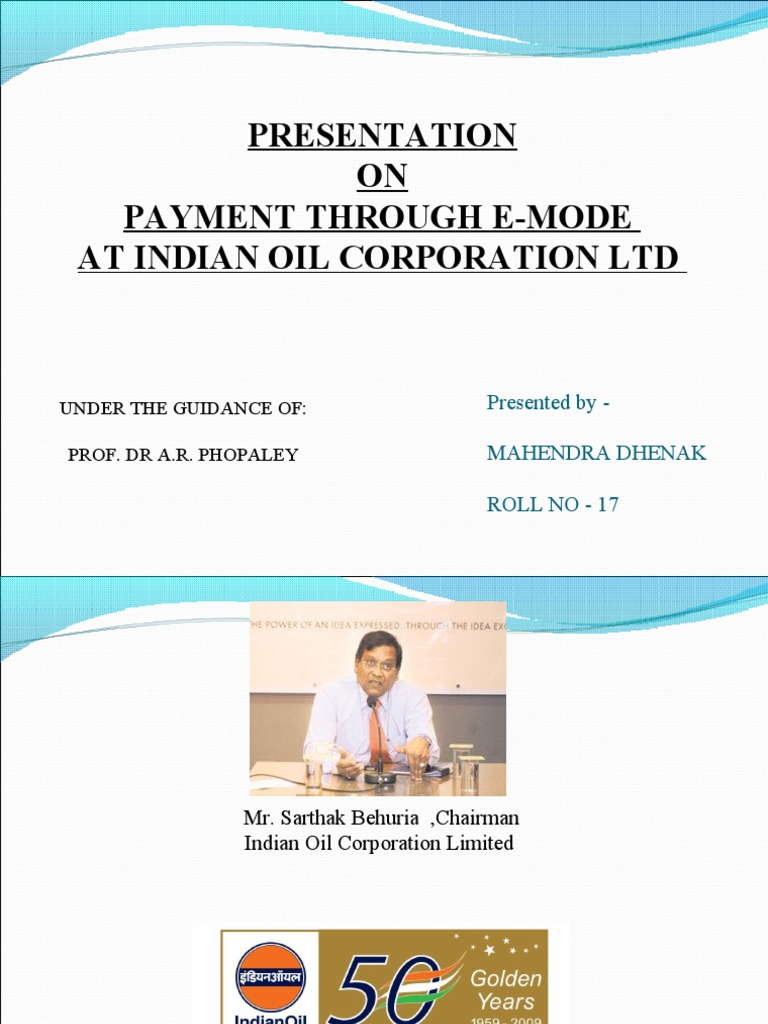 indian oil corporation ltd an internship