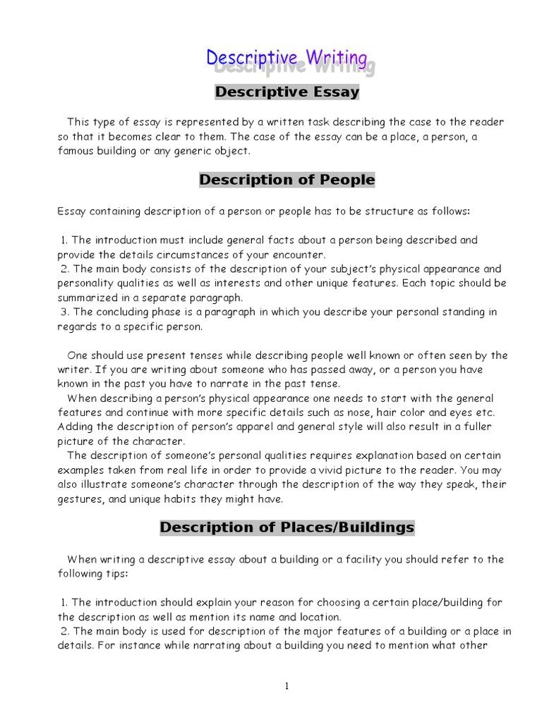 Descriptive essay on a rainy day - Common Steps to Write
