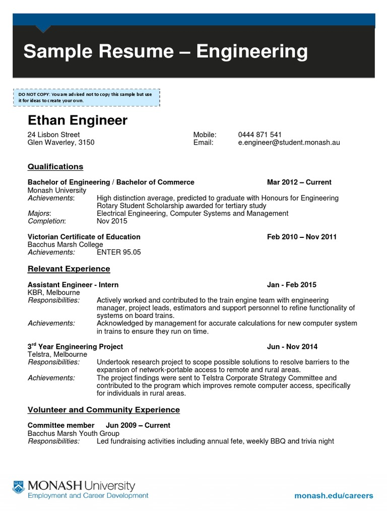 estimation engineer resume pdf