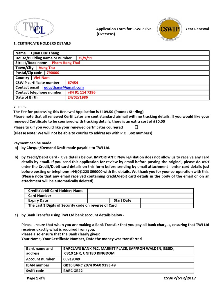 Aicpa Standard Bank Confirmation Form