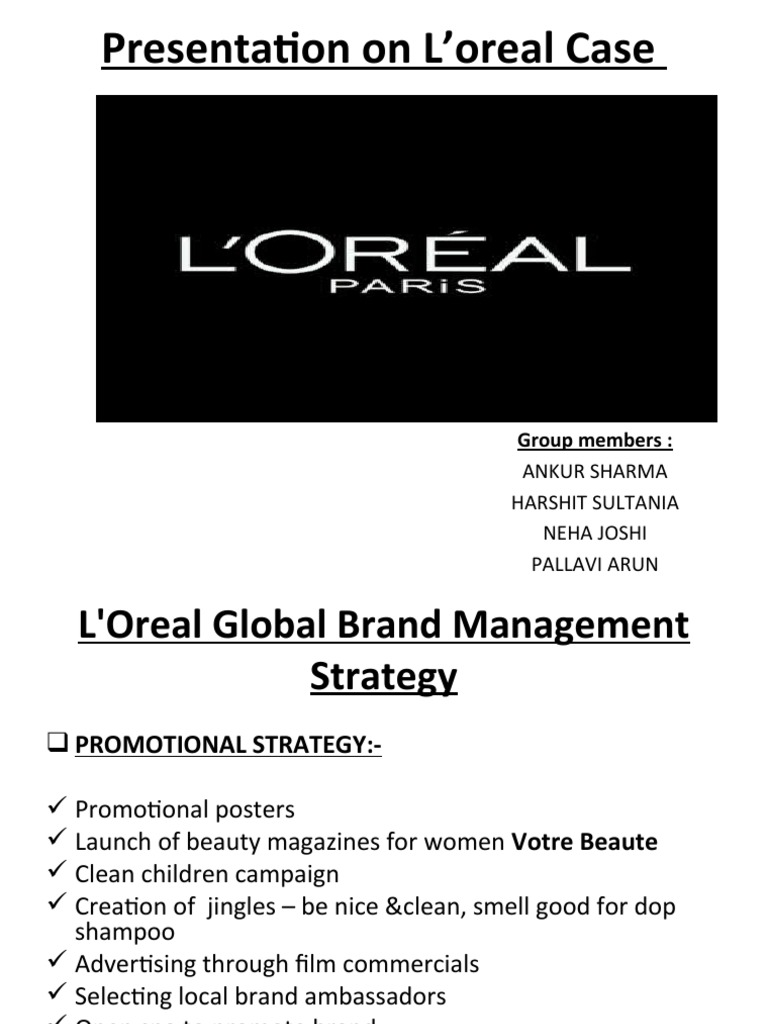 marketing loreal essay Segmentation method used by l'oreal essay good, marketing a custom essay sample on segmentation method used by l'oreal.