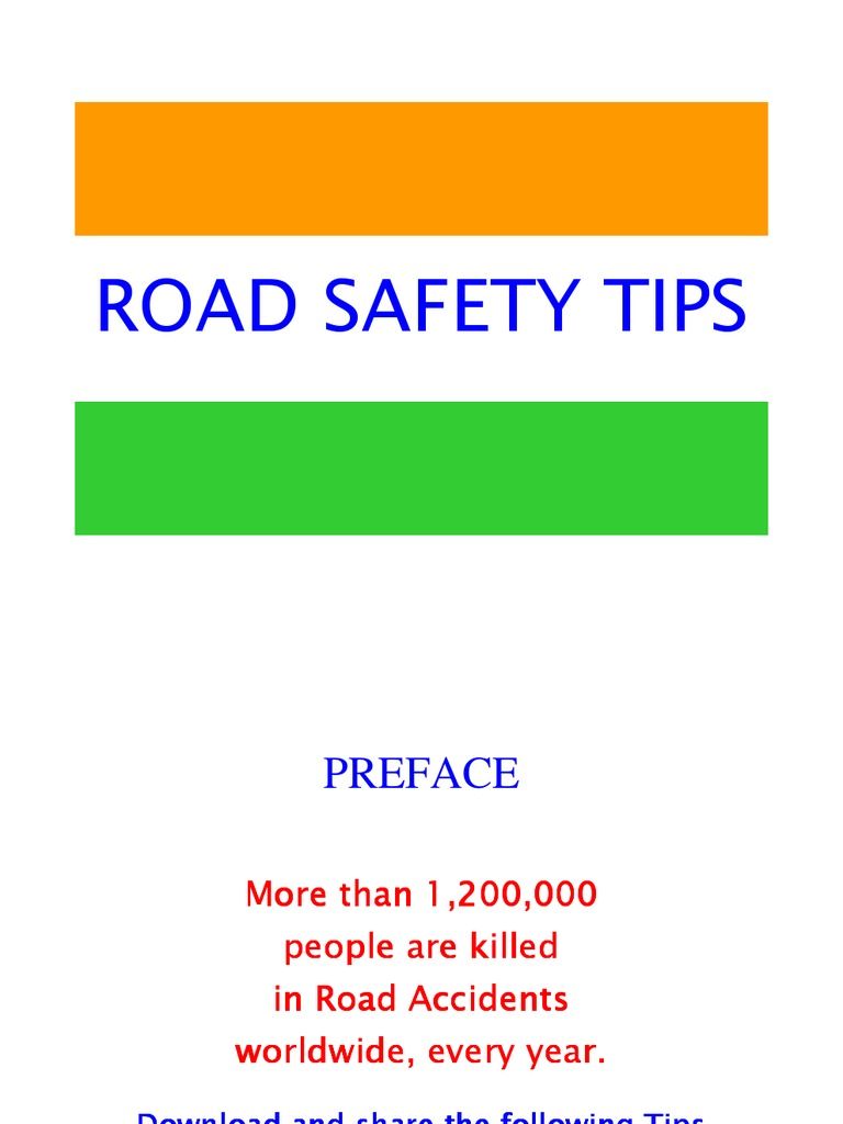 road safety tips essay