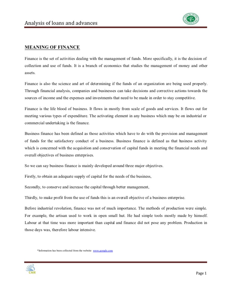 the necessity of finance in any business organization essay Role impact and importance of mis published on september 1, 2014 sakthivel rs follow following unfollow sakthivel rs sign in to follow this author head finance.