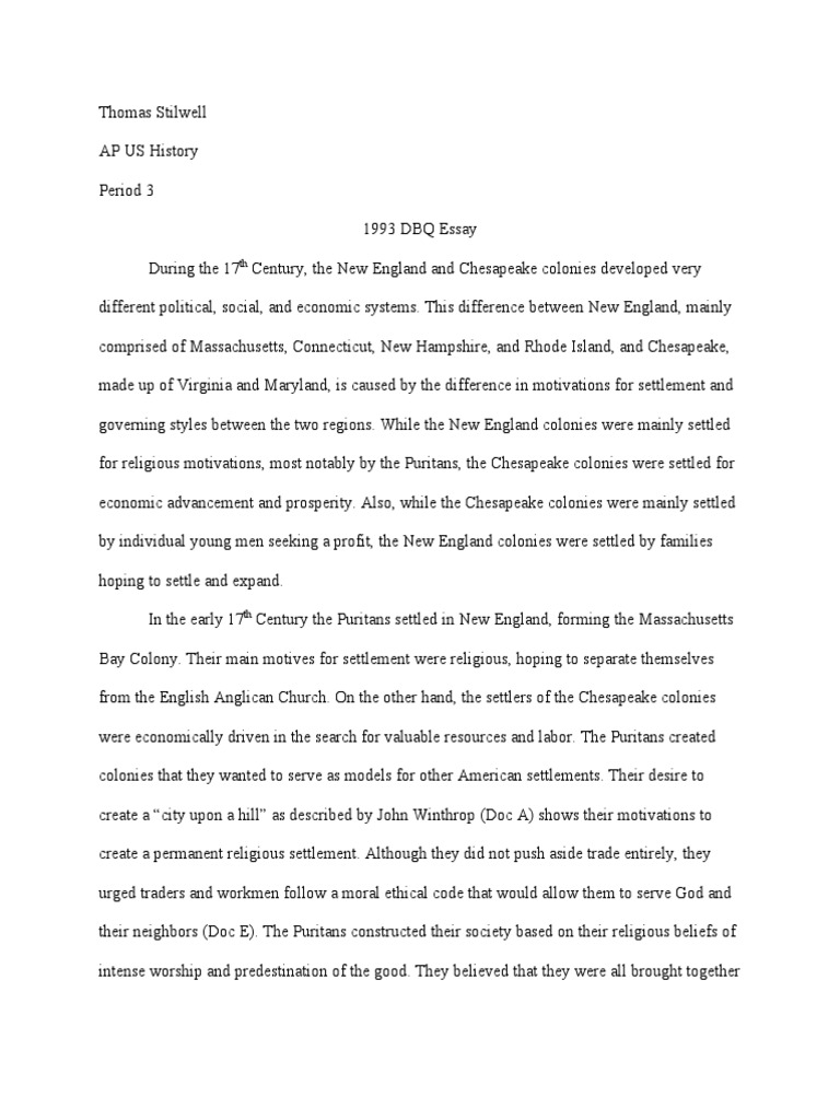 Guide to Writing an Effective AP US History Essay - Essays