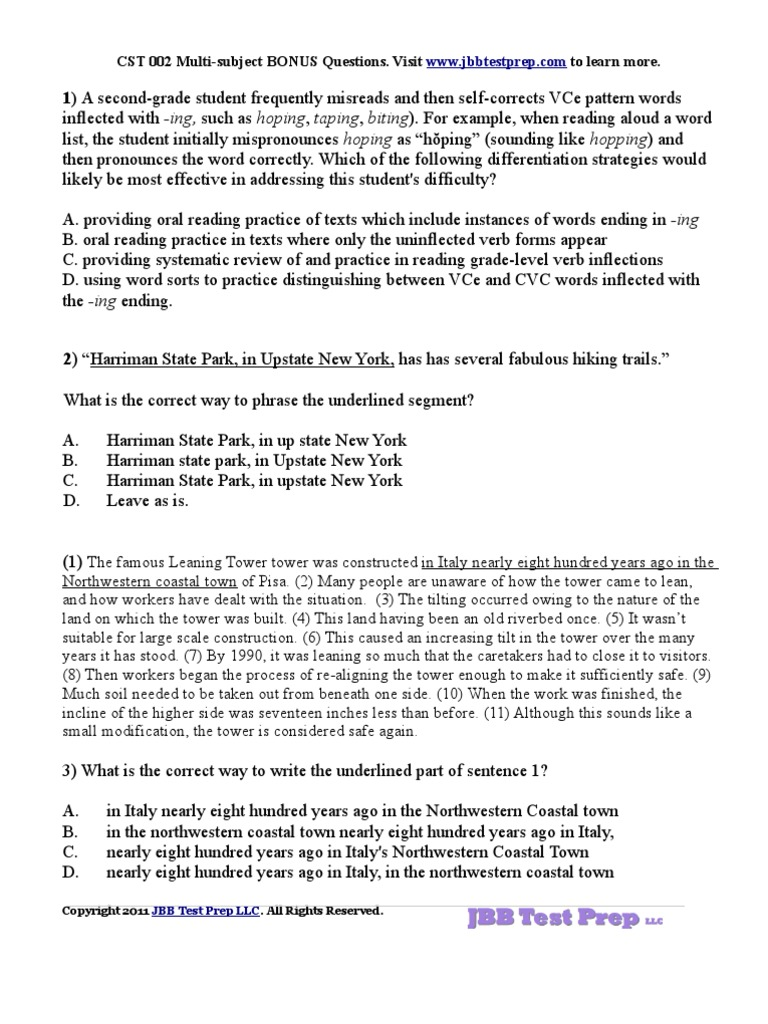 Write my cst multi subject essay