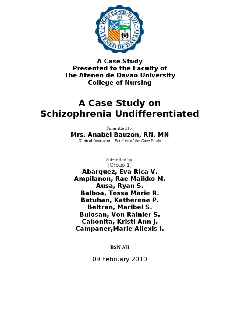 Essays on schizophrenia