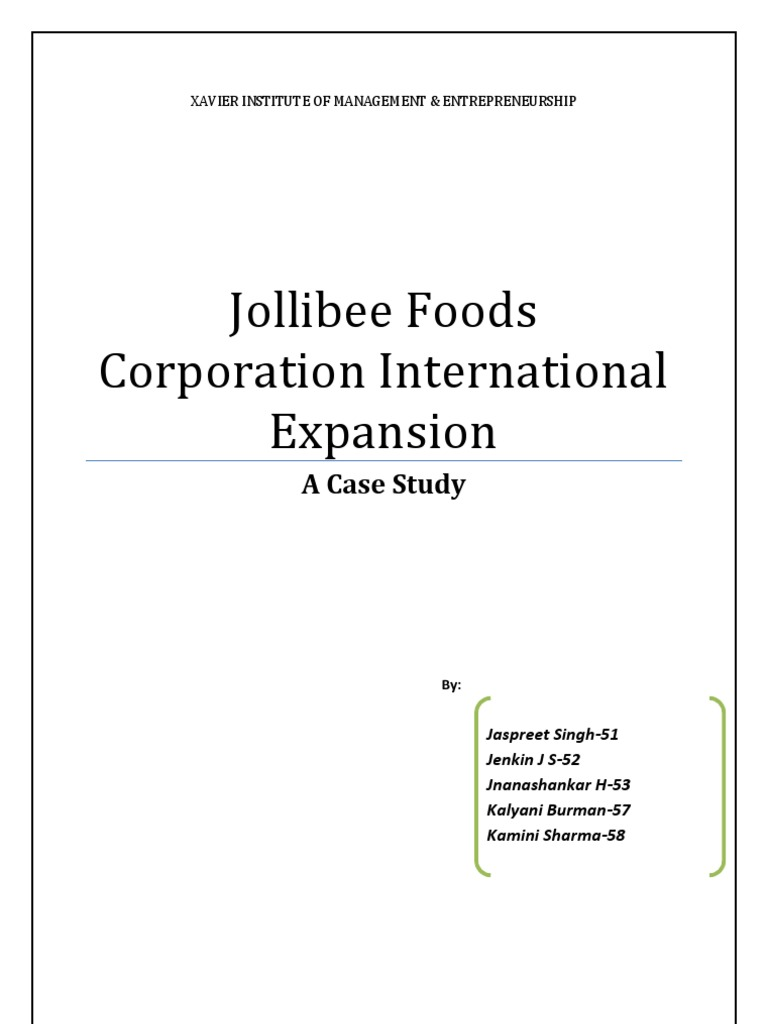 jollibee essay Essay on jollibee 2256 words | 10 pages conclusion reference list executive summary: the purpose of this report is to assess the current situation of jollibee to determine whether the brand should enter the uk or not.