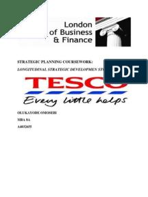 strategic management on retail sector tesco