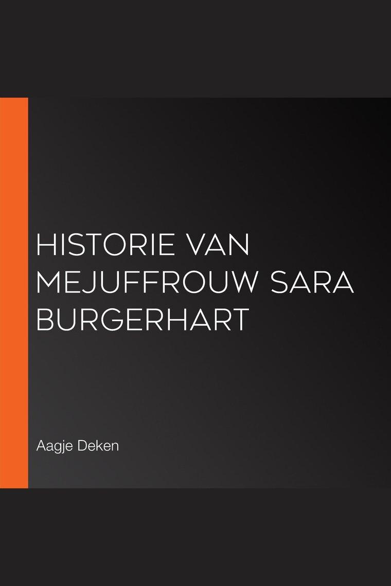 Historie Van Mejuffrouw Sara Burgerhart Ebook Download Gallery ...