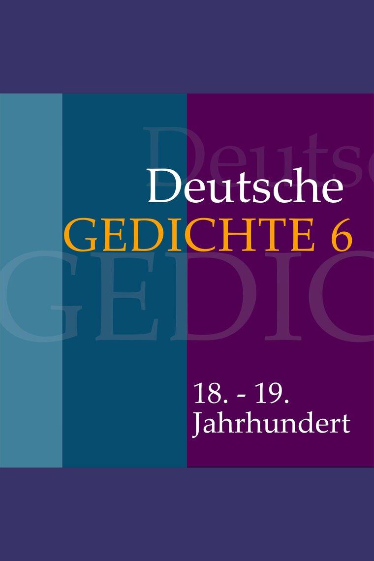 Deutsche Gedichte 6 18 19 Jahrhundert By Various Artists Bäng Management Verlags Gmbh Co Kg And Jürgen Fritsche Audiobook Listen