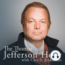 """#1299 Jefferson's Mistakes: """"He was part of the extension of slavery that made the Civil War inevitable, and that led to almost 800,000 deaths."""" — Clay S. Jenkinson This week President Thomas Jefferson speaks about the political mistakes he made. Find this episode, along with..."""