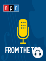 O'Riley gets a few tips about Armenian music from Armenian-American teen violinist, Haig Hovsepian