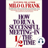 How to Run A Successful Meeting In 1/2 the Time