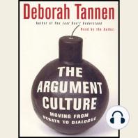 The Argument Culture