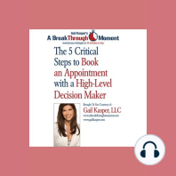 The 5 Critical Steps to Book an Appointment with a High Level Decision Maker