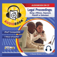 Legal Proceedings: Being a Witness, Deponent, Plaintiff or Defendant