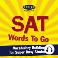 SAT Words to Go