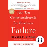 The Ten Commandments for Business Failure