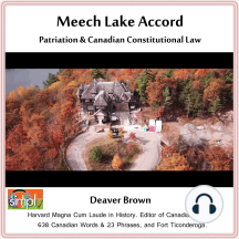 Meech Lake Accord: Patriation & Canadian Constitutional Law