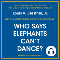 Who Says Elephants Can't Dance?