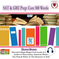 SAT & GRE Prep: 500 Core Words #2