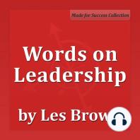 Words on Leadership