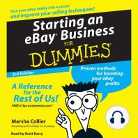 Starting an E-Bay Business for Dummies