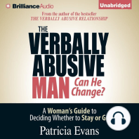 The Verbally Abusive Man, Can He Change?