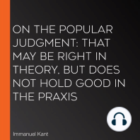 On the Popular Judgment