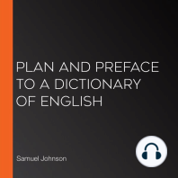 Plan and Preface to a Dictionary of English