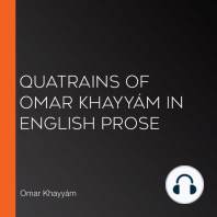 Quatrains of Omar Khayyám in English Prose