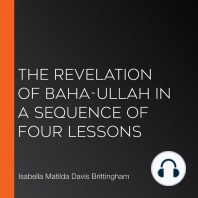 The Revelation of Baha-ullah in a Sequence of Four Lessons