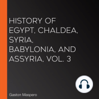 History Of Egypt, Chaldea, Syria, Babylonia, and Assyria, Vol. 3